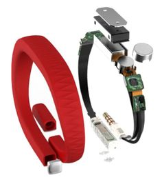 The Jawbone UP + app - 'motion sensing band' Tracks steps, distance, calories burned, sleep patterns.