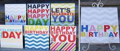 $9.00 Chevron Happy Birthday Boards