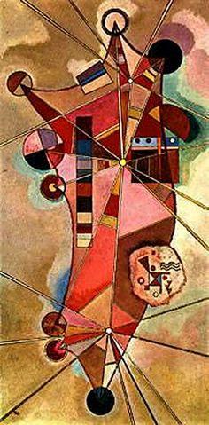"""1942.- """"Puntos fijos / Fixed points"""". WASSILY KANDINSK.  Pintor Ruso, precursor de la abstracción en Pintura y Teórico del Arte, con él se considera que comienza la ABSTRACCIÓN LÍRICA. Kandinsky creía en una REALIDAD ESENCIAL oculta tras la APARIENCIA ..."""