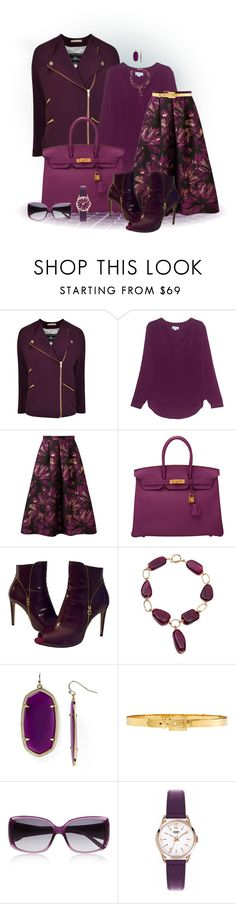 """""""Matching Coat and Shoes"""" by loveroses123 ❤ liked on Polyvore featuring By Malene Birger, Velvet by Graham & Spencer, Miss Selfridge, Hermès, Salvatore Ferragamo, Kendra Scott, Alexander McQueen, Givenchy and Henry London"""