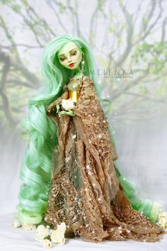 Yaleeni by melenka on DeviantArt Monster High Art, Monster High Clothes, Custom Monster High Dolls, Monster High Repaint, Custom Dolls, Ooak Dolls, Art Dolls, Enchanted Doll, Elf Doll