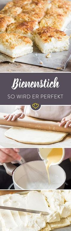 Bake the bee sting: step by step to the perfect bee sting-Bienenstich backen: Schritt für Schritt zum perfekten Bienenstich Perhaps the best recipe for bee sting: a super … -