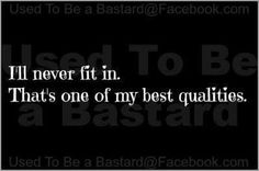 """I have absolutely no desire to """"fit in"""" nor was I born to. I was born to stand out! #INTJ #Female"""