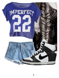 """Untitled #6677"" by carmellahowyoudoin ❤ liked on Polyvore featuring mode, !M?ERFECT en NIKE"