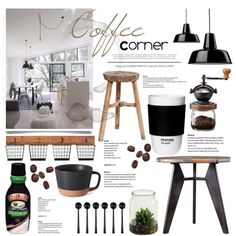 Coffee Corner by dian-lado on Polyvore featuring interior, interiors, interior design, home, home decor, interior decorating, ROOM COPENHAGEN and canvas