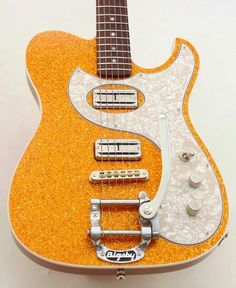 Fano GuitarsClean Gold Sparkle TC6 w/TV JonesSuper'Trons, Bigsby and white binding
