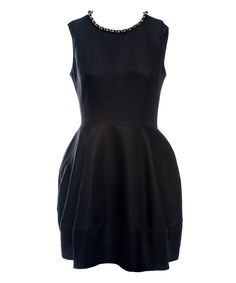 Look at this Luna of London Black Bubble Dress on #zulily today!