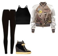 Untitled #289 by camibg on Polyvore featuring polyvore fashion style Boohoo Valentino Giuseppe Zanotti clothing