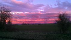 The sky was awesome one eve - stopped and took photo from side of road on I-5 between Salem and Portland Oregon