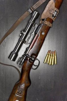 Mauser K98 Rifle with scope