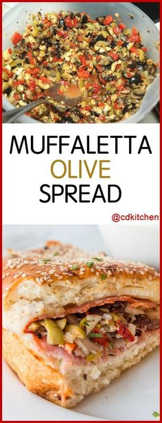 Muffaletta Olive Spread - Spiced, chopped olives in oil makes a great secret ingredient in muffaletta sandwiches or a tapenade-style topping for crackers or bruschetta. Muffaletta Olive Spread Recipe, Muffuletta Recipe, Muffuletta Sandwich, Tapenade, Olive Recipes, Italian Recipes, Croatian Recipes, Recipes With Olives, Hungarian Recipes