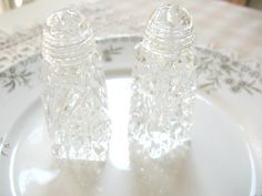 SALE  Vintage Crystal Salt and Pepper Shakers by Vintagegirlsfinds, $18.00 ***Labor Day Sale*** Take 10% off your entire purchase 8/31-9/7