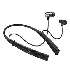 Bluetooth Headphones Neckband TaoTronics Wireless Headset Magnetic Earphones In Ear Earbuds with Mic (Silicone Gel Surface CVC 6.0 Noise Cancelling Microphone IPX5 Waterproof 10 Hours Playtime)
