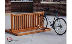Wooden Bike Rack Designs | bike rack finishing 1 Wood plastic composite bike racks
