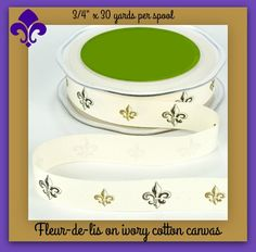 """Ribbon for your best crafting & sewing projects! This 3/4"""" x 30 yard roll is…"""