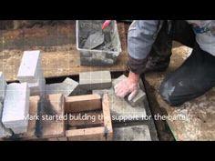 Rocket Mass Heater Build - YouTube