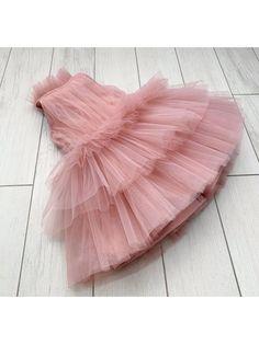 Summer Pleated Tea Pink dress Frocks For Girls, Little Girl Dresses, Girls Dresses, Girls Frock Design, Baby Dress Design, Kids Dress Wear, Jasmine Dress, Kids Lehenga, Anna Dress