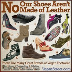 """No, our shoes aren't made of leather"" Doc Martens even have a vegan line of shoes now!"