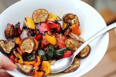 Adventuress : Grilled Vegetable Salad & Eggplant Chips