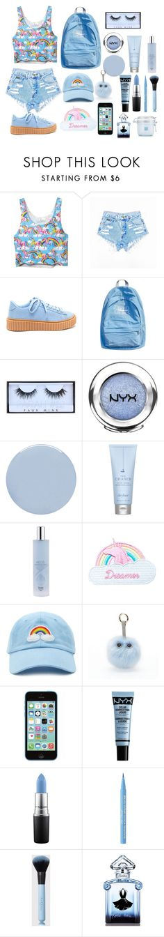 """Untitled #32"" by radost297 on Polyvore featuring WithChic, Huda Beauty, NYX, Deborah Lippmann, Drybar, AEOS, Jazzelli Designs, Forever 21, Under One Sky and MAC Cosmetics"