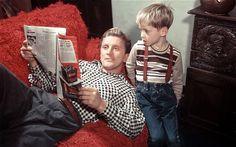 Kirk Douglas and son Michael