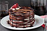 Im drooling! Chocolate, pancakes and cake : ). PanChocolate Pancake Cake by zoomyummy Chocolate Chip Cookies, Chocolate Pancakes, Pancakes And Waffles, Chocolate Food, Chocolate Cream, Melted Chocolate, Decadent Chocolate, Chocolate Butter, Chocolate Syrup