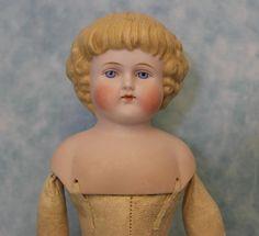 Antique 16.5 inch Alt Beck Gottschalck ABG Bisque Head Parian Doll Antique Kid body