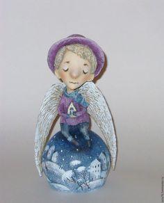 Коллекционные куклы ручной работы. Ярмарка Мастеров - ручная работа. Купить Ангел.. Handmade. Комбинированный, ангел-хранитель, зима, грусть