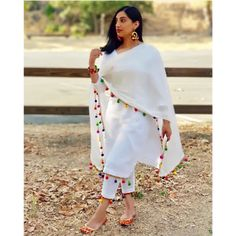 Indian lehenga salwar suit lehenga choli indian suit women crop top & lehenga saree blouse indian cl - All About White Punjabi Suits, White Salwar Suit, Indian Suits, White Kurta, Indian Wear, Patiala Suit Designs, Kurta Designs Women, Kurti Designs Party Wear, New Kurti Designs
