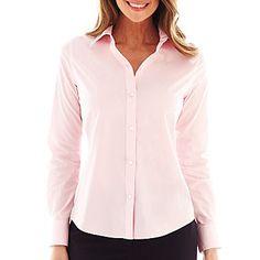 jcp | Liz Claiborne Long-Sleeve Wrinkle-Free Shirt