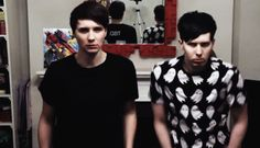 "why and what is this // Dan's face looks like ""why"" and Phil looks so intent on ""shimmying"" correctly xD"