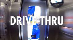Red Bull Serves Up Drinks In 'Drive-Thru' Elevator - DesignTAXI.com