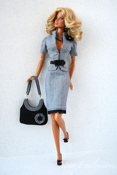 ♡✿♔Life, likes and style of Creole-Belle♔✿✝♡ Fashion Royalty Dolls, Fashion Dolls, Girl Fashion, Fashion Outfits, Barbie Mode, Bad Barbie, Doll Clothes Barbie, Barbie Dress, Barbie Fashion Sketches