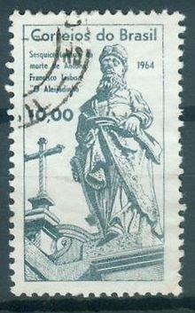 ALEIJADINHO. Selo postal em homenagem ao escultor