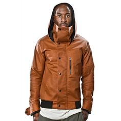 Canvas Mock Neck Jacket Copper, $148, now featured on Fab.