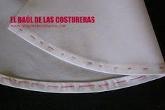 EL BAÚL DE LAS COSTURERAS: Cómo coser un ruedo curvo, con acabado profesional