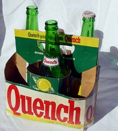 Vintage Quench 6pack soda container with by ALightIntheCorner, $10.00