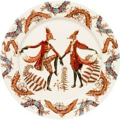 """The Iittala Tanssi Dinner Plate will add a certain whimsy to any meal or dining table. The unique design is inspired by the Czech Opera """"A Cunning Little Vixen"""" that takes place in a comical forest. Tanssi means"""
