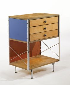 CHARLES AND RAY EAMES 2ND EDITION ESU 270-C (EAMES STORAGE UNIT) birch plywood, lacquered masonite and zinc-plated steel 32 1/4 x 24 x 16 1/4 in. (81.9 x 60.9 x 41.3 cm) 1952-1955