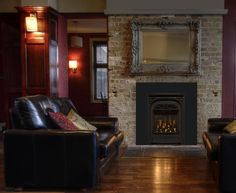 Corner Gas Vented Fireplace | PRESIDENT Direct Vent Gas FIREPLACE