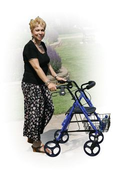 D-Lite, Aluminum Rollator with Removable 8 Casters