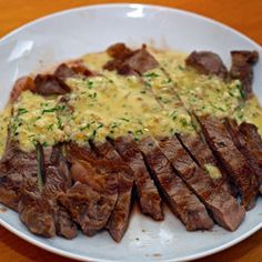 Grilled Skirt Steak with Herb Salsa Verde   Paleo Mains - Beef ...
