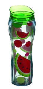 watermelon insulated travel mug