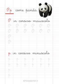 Schede di Pregrafismo delle Lettere dell'Alfabeto da Stampare | PianetaBambini.it Graph Paper Art, Montessori, Alphabet, Homeschool, Education, Gaia, Words, Veronica, Scarlet
