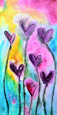 Decorate your home with unique love paintings & heart paintings available for sale at Ivan Guaderrama Art Gallery. You can also choose from heart paintings on canvas! Heart Painting, Love Painting, Painting & Drawing, Kunstjournal Inspiration, Art Journal Inspiration, Whatsapp Wallpaper, Watercolor Heart, Valentines Art, Art Journal Pages