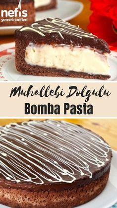 A Lot of Custard Filled Bomb Pie Recipe (with video) -.- Çok Değişik Muhallebi Dolgulu Bomba Pasta Tarifi (videolu) – Nefis Yemek Tarifleri A Wide Variety of Custard Filled Bomb Pie Recipes (with video) – Yummy Recipes - Pie Recipes, Pasta Recipes, Cookie Recipes, Yummy Recipes, Bomb Cake, Pasta Cake, Custard Filling, Tasty, Yummy Food