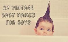22 Vintage Baby Names for Boys #parents #pregnancy #parenting