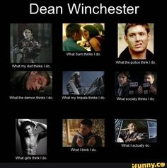 Read Dean from the story Supernatural Memes by cleo_loring with reads. So true Dean. So true. Funny Supernatural Memes, Supernatural Tv Show, Funny Memes, Winchester Supernatural, Supernatural Imagines, Supernatural Tattoo, Supernatural Wallpaper, Supernatural Crossover, Supernatural Drawings