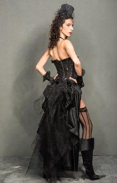 Black  Swan Steampunk Goth EdwardianPirate by gypsecouture on Etsy