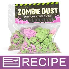 DIY Zombie Dust Bath Fizzie Powder Kit: This is so fun for kids to make AND to use! The convenient kit makes this craft really easy. Perfect for the Halloween season! Wine Bottle Crafts, Mason Jar Crafts, Mason Jars, Kosmetik Shop, Bath Fizzies, Bath Salts, Do It Yourself Crafts, Diy Home Decor Projects, Craft Projects
